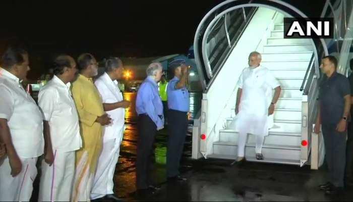 केरल में बारिश और बाढ़ से तबाही, हालात का जायजा लेने पहुंचे पीएम नरेंद्र मोदी