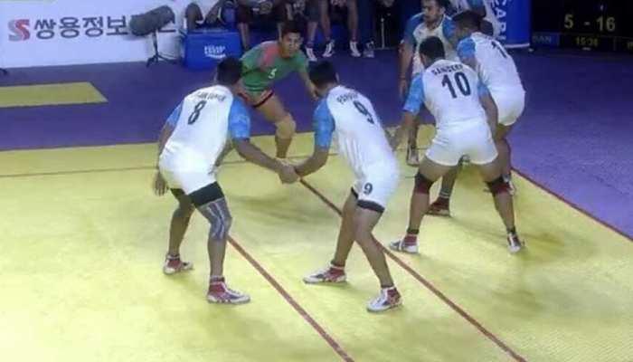 एशियाई खेल: कबड्डी में भारतीय पुरुष टीम की जीत से शुरुआत
