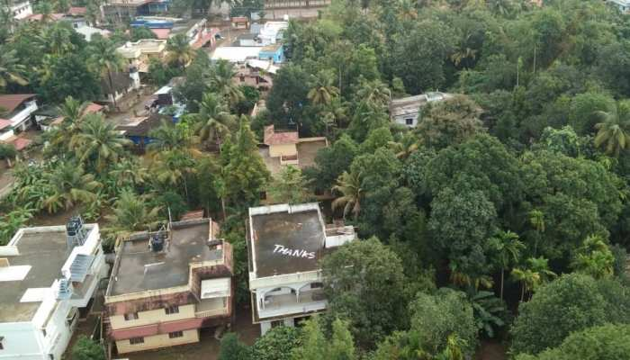 Kerala: THANKU written on the roof of the house for life saving jawans
