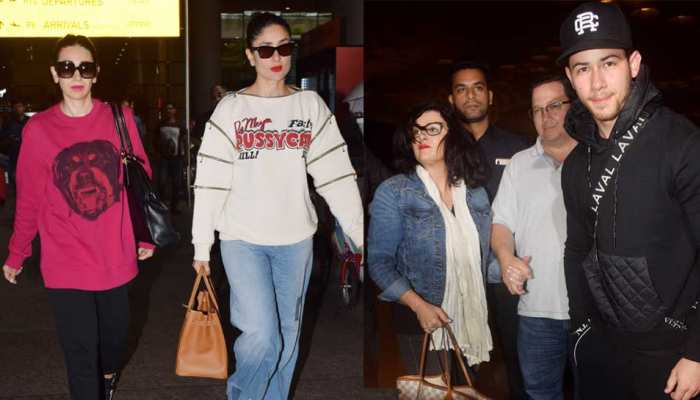 Kareena Kapoor cool look to Nick Jonas good bye, here is the Bollywood Airport Diary