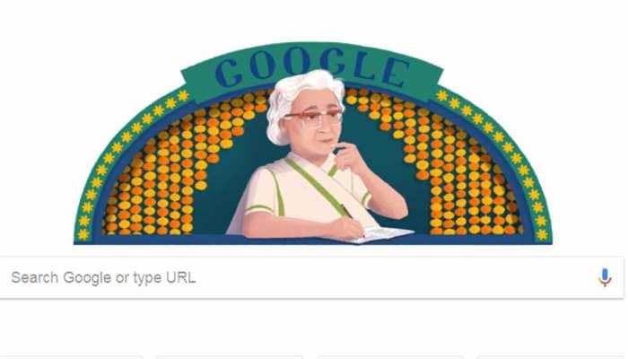 Google ने Doodle बनाकर 'इस्मत आपा' को किया याद, दी श्रद्धांजलि