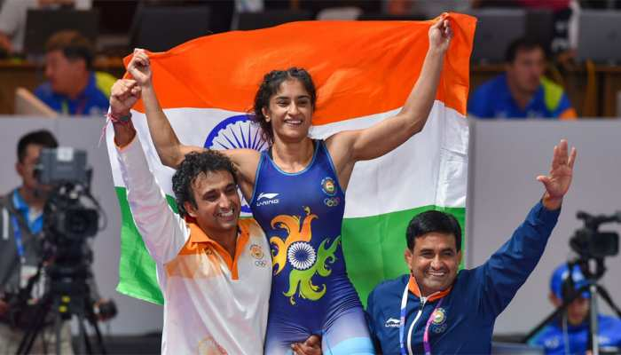 After historic gold, Vinesh Phogat gets engaged at airport on return