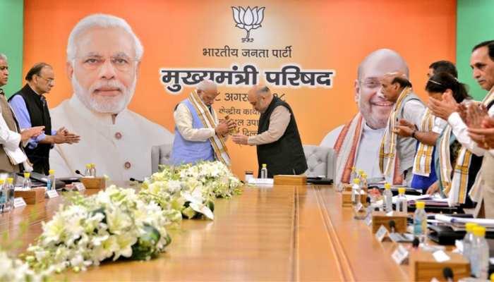 PM मोदी, अमित शाह ने BJP सीएम के साथ बिछाई 2019 की बिसात, इन 5 राज्यों पर होगा फोकस