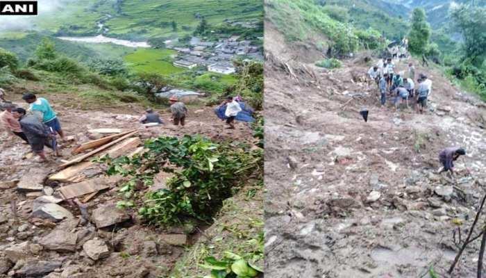 उत्तराखंड : टिहरी में भूस्खलन से मकान गिरा, 3 की मौत, 8 लोग मलबे में दबे
