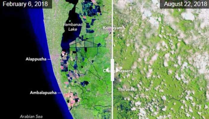 नासा ने कहा इस वजह से केरल में आई बाढ़ से तबाही, जारी की अलग-अलग तस्वीरें