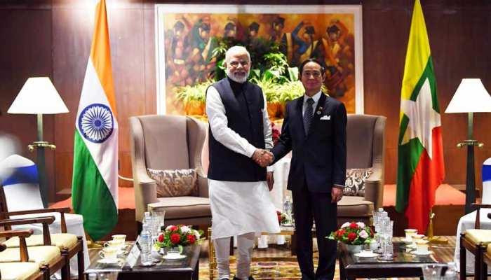 प्रधानमंत्री मोदी ने म्यांमार के राष्ट्रपति से मुलाकात की