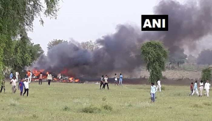 जोधपुर में वायुसेना का MIG- 27 विमान हुआ क्रैश, लगी भीषण आग