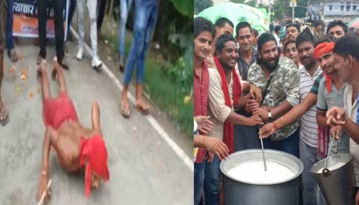बिहारः बंद समर्थकों का अनोखा प्रदर्शन, कहीं बनी खीर तो कहीं दंड प्रणाम कर जताया विरोध