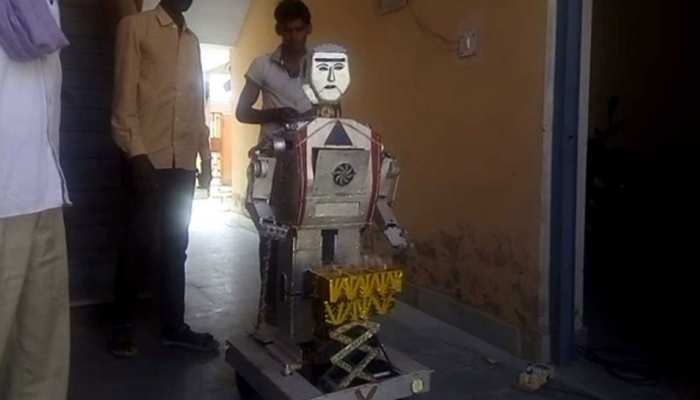 Rajasthan: Young man made a robot at his home after watching a movie on tv