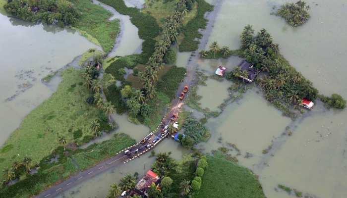 केरल बाढ़ : राज्य सरकार ने केंद्र से की 4,700 करोड़ रुपए की मांग