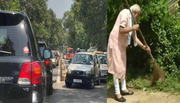 जब बिना सिक्योरिटी रूट के दिल्ली की सड़कों पर निकला पीएम मोदी का काफिला, फंस गए 'जाम' में