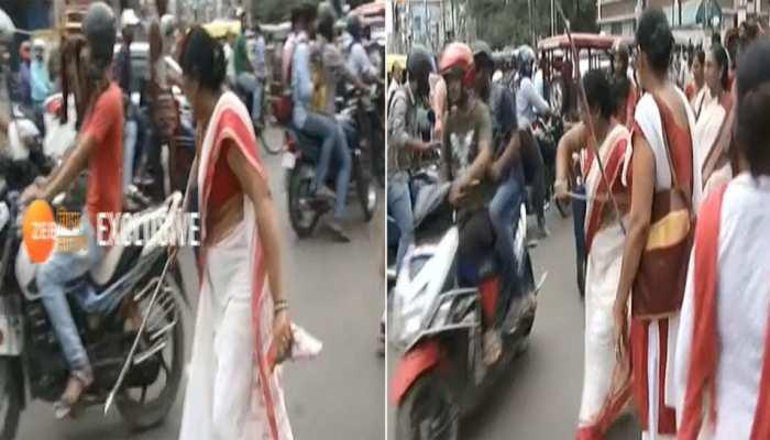 बिहारः आंगनबाड़ी और आशा कार्यकर्ताओं का प्रदर्शन, पटना में लोगों को किया गया परेशान