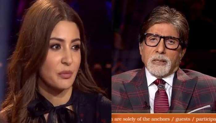 KBC 10: केबीसी के सेट पर अनुष्का शर्मा को अमिताभ बच्चन ने क्यों लगाई डांट