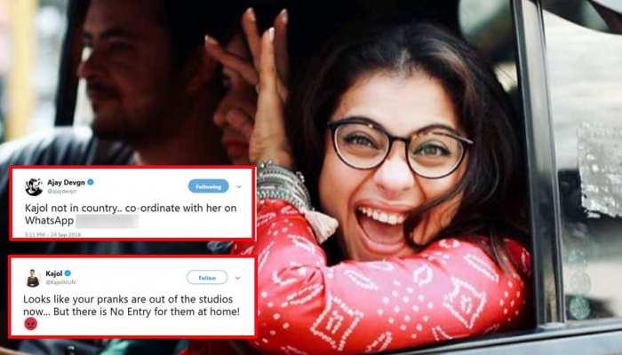 अजय देवगन ने शेयर किया पत्नी का WhatsApp नंबर, काजोल बोलीं 'अब घर मत आना'
