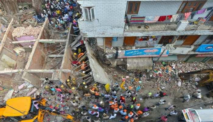 दिल्ली: इमारत ढहने से चार बच्चों और एक महिला की मौत, मुख्यमंत्री नेे दिए जांच के आदेश