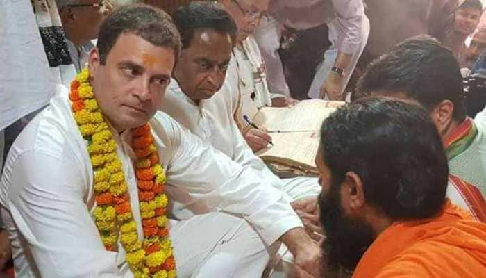 चित्रकूट में राहुल गांधी, 'जा पर विपदा परत है ते आवहिं एहि देस'