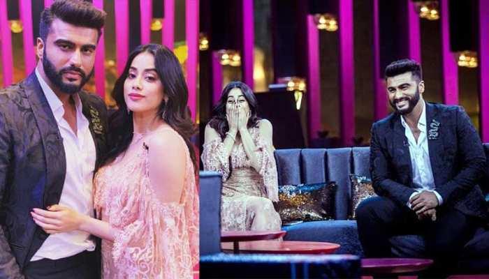 Koffee With Karan 6: 'कॉफी किंग' अर्जुन कपूर के साथ बहन जाह्नवी ने यूं की मस्ती