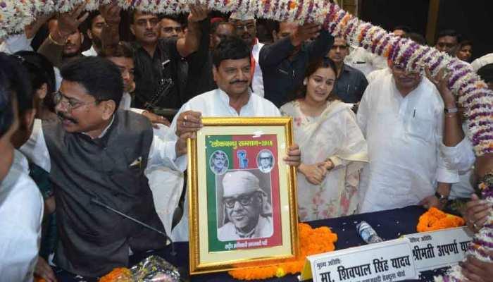 शिवपाल के साथ मंच साझा करने पर BJP ने पूछा- अखिलेश जवाब दें अपर्णा किसके साथ हैं