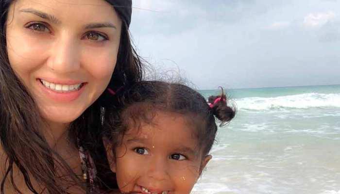 सनी लियोनी ने इस अंदाज में किया अपनी बेटी का B'day Wish, देखें PHOTOS