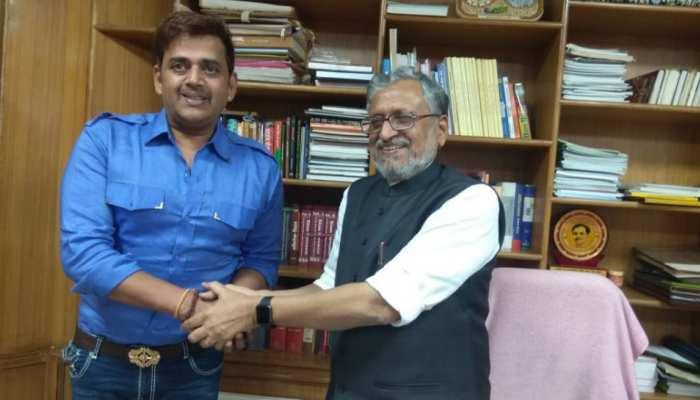 पटना: उपमुख्यमंत्री सुशील मोदी से मिले रवि किशन, भोजपुरी सिनेमा के विकास पर की बात