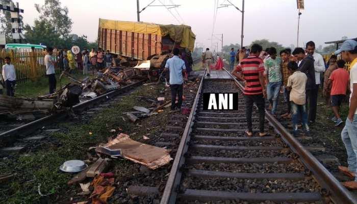 मध्य प्रदेशः त्रिवेंद्रम राजधानी एक्सप्रेस से टकराया तेज रफ्तार ट्रक, पटरी से उतरे दो कोच