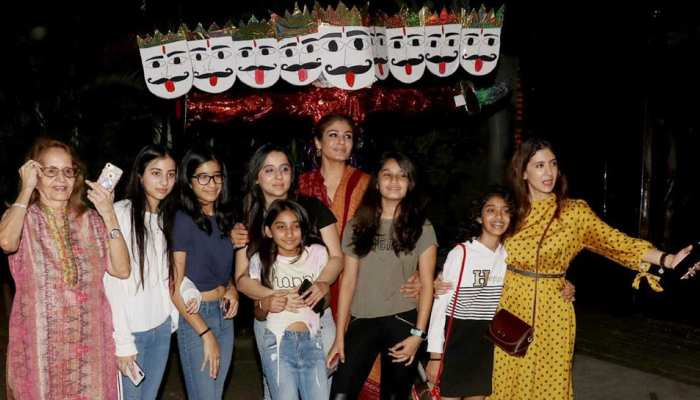 Raveena Tandon celebrated ecofriendly Dussehra, burnt Ravana in the house, see photos