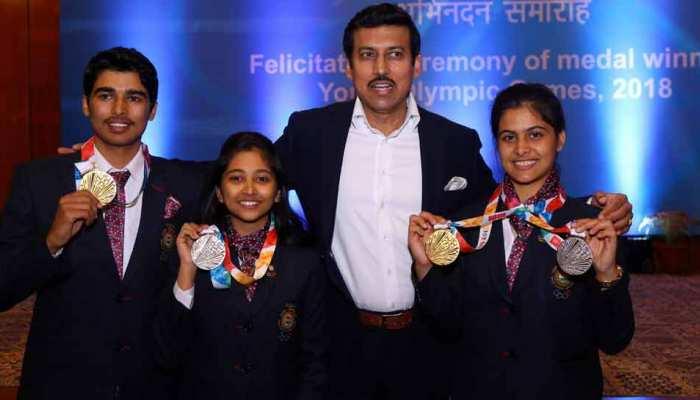 यूथ ओलंपिक में मेडल जीतने वाले खिलाड़ी सम्मानित, गोल्ड जीतने वालों को 25 लाख रुपए का इनाम