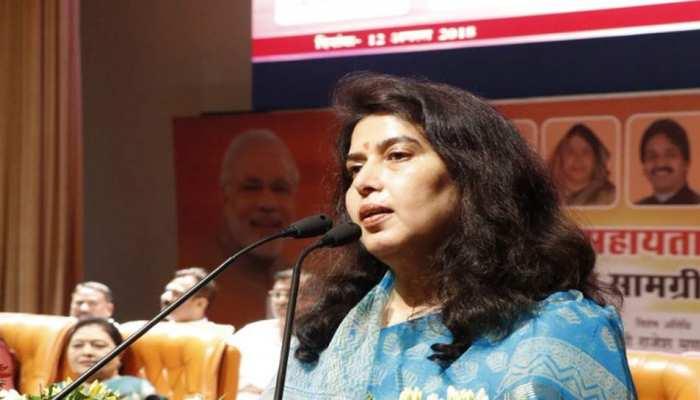 छत्तीसगढ़ में कांग्रेस को प्रभावित करेगा जोगी की पार्टी और BSP का गठबंधन : सरोज पांडेय