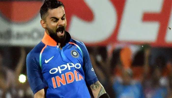 VIDEO: वेस्टइंडीज के इस खिलाड़ी का विकेट गिरा, विराट कोहली ने अलग अंदाज में मनाया जश्न