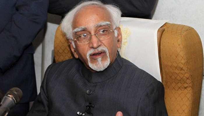 विभाजन को लेकर हामिद अंसारी ने दिया विवादित बयान, भारत को बताया जिम्मेदार, देखें VIDEO