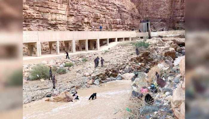 जॉर्डन में बाढ़ में मरने वालों की संख्या हुई 21