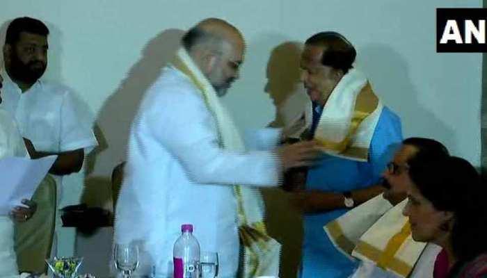 पूर्व इसरो चीफ माधवन नायर बीजेपी में हुए शामिल, शाह की मौजूदगी में ली सदस्यता