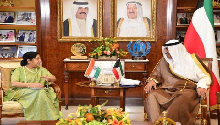 सुषमा स्वराज ने कुवैत के PM से की मुलाकात, भारतीय समुदाय की चिंताओं को उठाया
