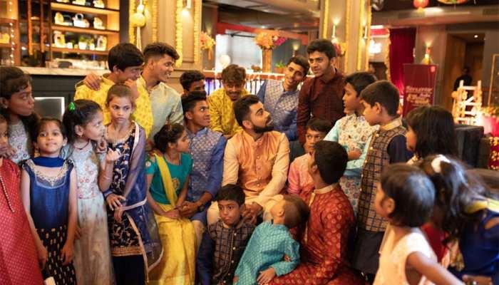 Virat Kohli Diwali Celebration with the underprivileged kids at Dharavi