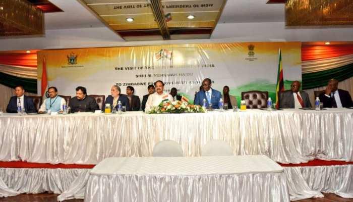 जिम्बाब्वे: वेंकैया नायडू ने राष्ट्रपति से की मुलाकात, 6 समझौतों पर किए हस्ताक्षर