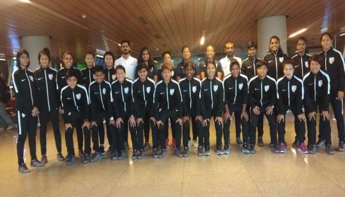 2020 ओलंपिक क्वालीफायर के लिए भारतीय महिला फुटबॉल टीम पहुंची यंगून