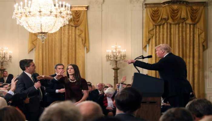 प्रेस कॉन्फ्रेंस में भड़के ट्रंप, व्हाइट हाउस ने CNN के रिपोर्टर का प्रेस पास किया निलंबित