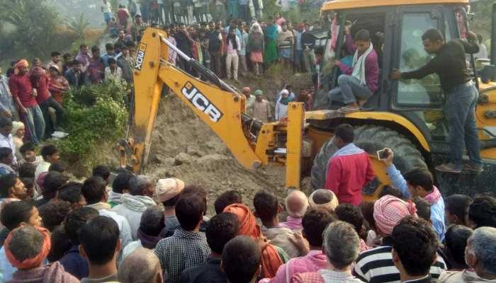 समस्तीपुर: मिट्टी में दबने से तीन लोगों की मौत, दो को निकालने का प्रयास जारी