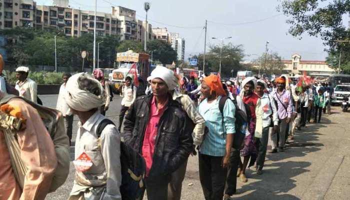 मुंबई की सड़कों पर फिर जुटे किसान, गुरुवार को आजाद मैदान करेंगे कूच