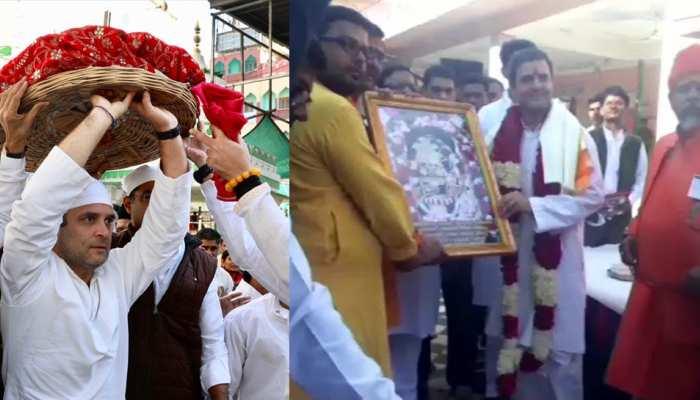 Rajasthan: Before starting the campaign, Rahul Gandhi visited ajmer dargah, see PICS