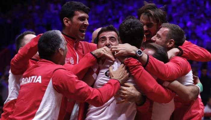 टेनिस: क्रोएशिया बना डेविस कप चैंपियन, फ्रांस से लिया फीफा वर्ल्ड कप की हार का बदला