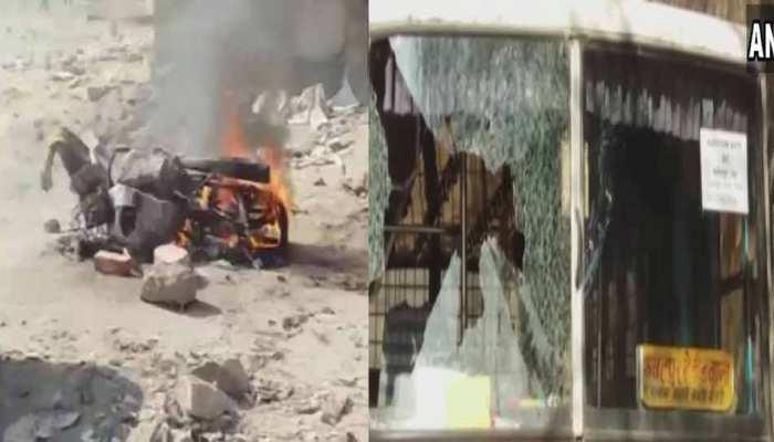 राजस्थान में मतदान के दौरान कई जगह हुई हिंसा, वाहन भी फूंके, हुई चाकूबाजी