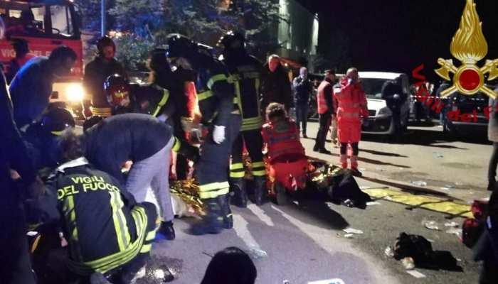इटली के नाइटक्लब में अचानक मची भगदड़, 6 लोगों की मौत