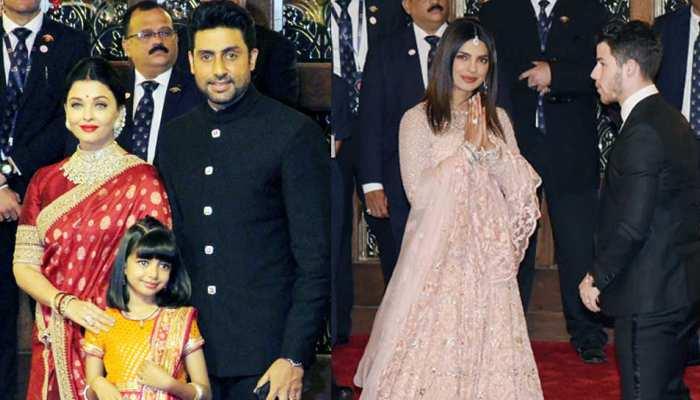 Isha Ambani Wedding: लाल साड़ी में ऐश्वर्या, पिंक लुक में प्रियंका चोपड़ा ने की एंट्री