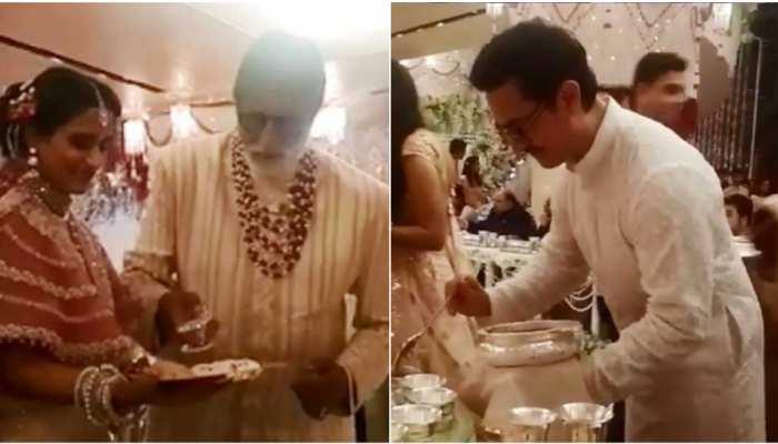 Video : ईशा अंबानी की शादी में Big B, आमिर-शाहरुख बने 'लड़कीवाले', मेहमानों को परोसा खाना