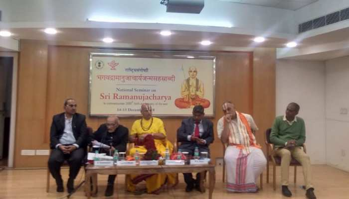 संत रामानुज की 1000वीं जयंती पर साहित्य अकादमी में हुआ सेमिनार का आयोजन