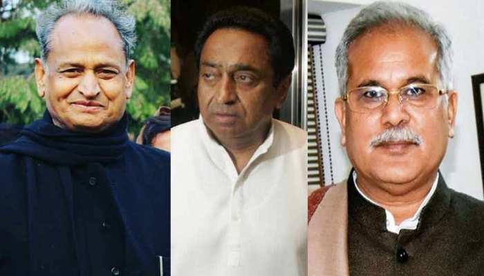 राजस्थान, मध्य प्रदेश और छत्तीसगढ़ में नई सरकार का शपथ ग्रहण समारोह आज