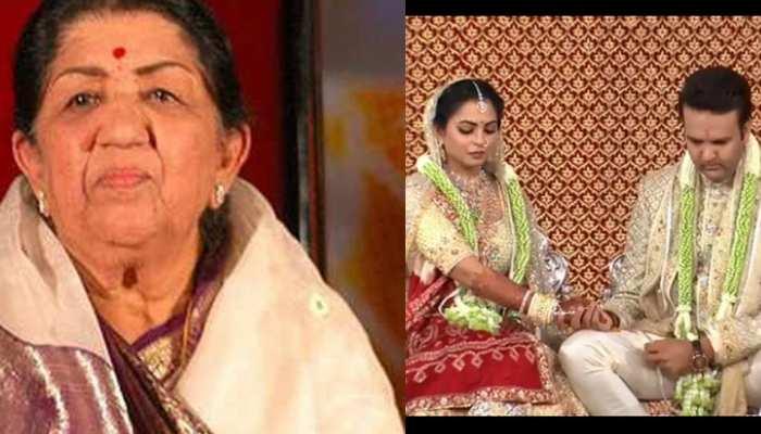 ईशा अंबानी की शादी में लता मंगेशकर ने गाया गायत्री मंत्र, देखें VIDEO