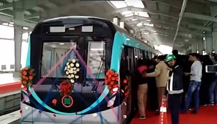 नोएडा मेट्रो की एक्वा लाइन के संचालन को हरी झंडी, जल्द होगा उद्घाटन