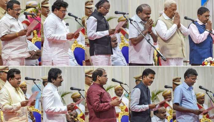 CM कुमारस्वामी ने कैबिनेट का किया विस्तार, कांग्रेस से 8 मंत्रियों को शामिल किया